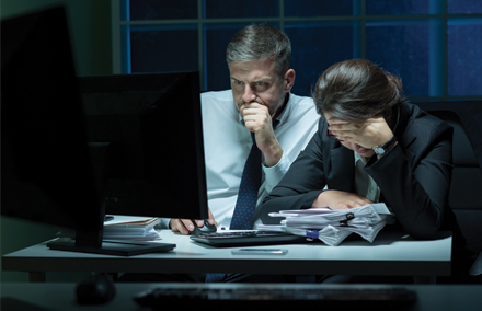 Pourquoi rester tard au travail est contreproductif
